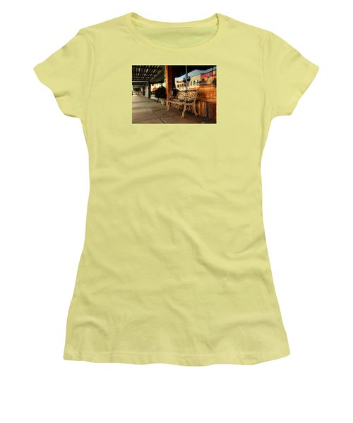 Antique Bench Women's T-Shirt (Junior Cut) by Ester Rogers