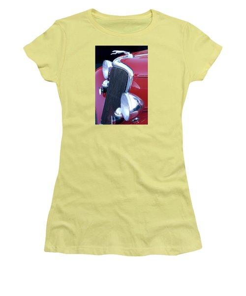 Antique Car Hood Ornament Women's T-Shirt (Athletic Fit)