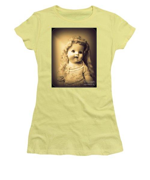 Antique Dolly Women's T-Shirt (Junior Cut) by Susan Lafleur
