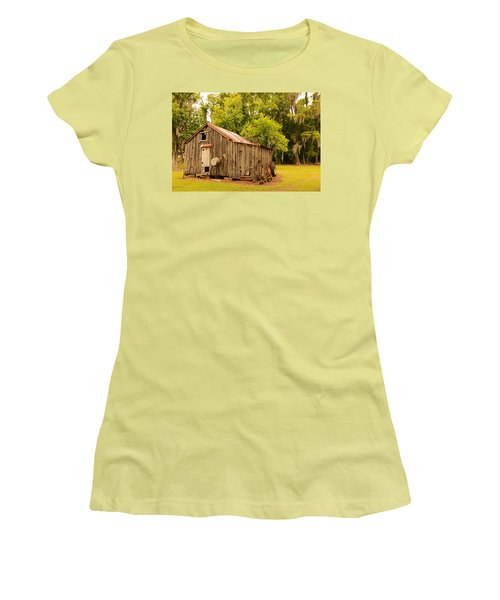 Antique Shed Women's T-Shirt (Junior Cut) by Ronald Olivier