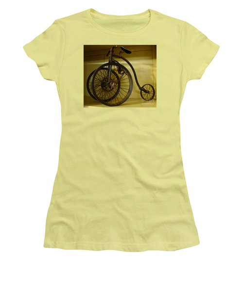 Women's T-Shirt (Junior Cut) featuring the painting Anyone For A Bike Ride?  by Rod Jellison
