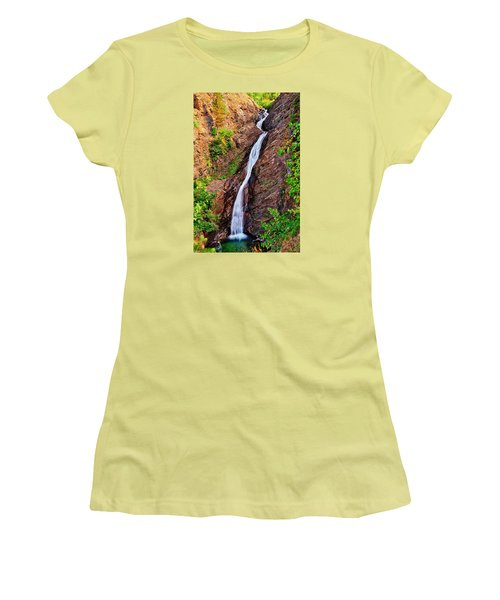 Women's T-Shirt (Junior Cut) featuring the photograph Appistoki Falls by Greg Norrell