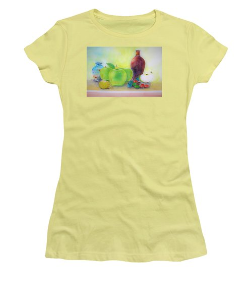 Apple A Day Women's T-Shirt (Athletic Fit)