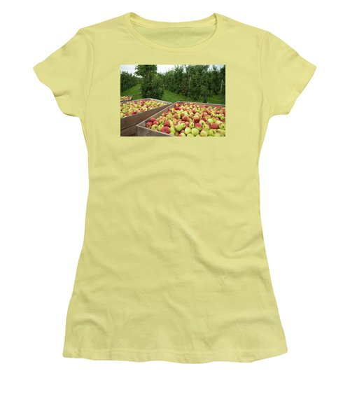 Apple Harvest Women's T-Shirt (Junior Cut) by Hans Engbers