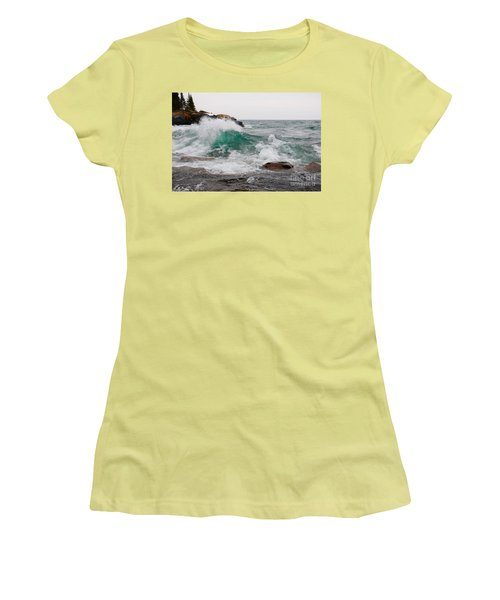 April Waves On Superior Women's T-Shirt (Athletic Fit)