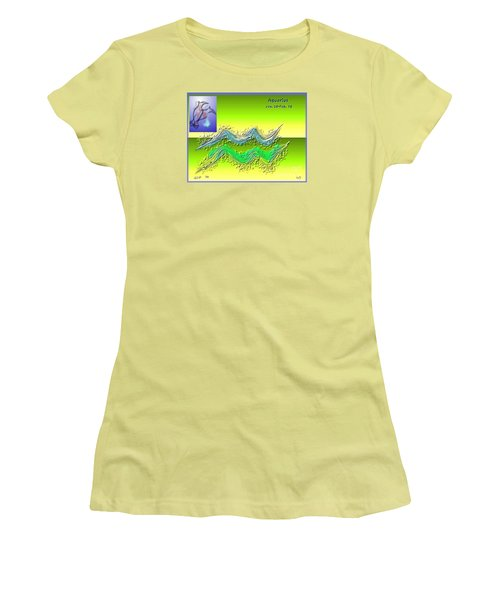 Women's T-Shirt (Junior Cut) featuring the digital art Aquarius By Alice Terrill And Will Baumol by The Art of Alice Terrill