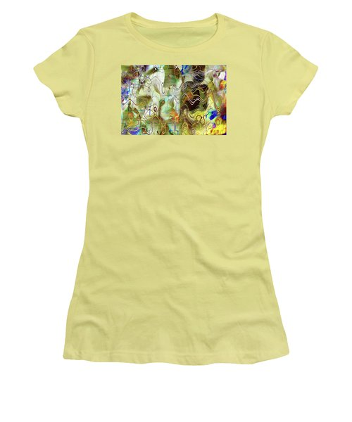 Arbitrary Color Opticality Women's T-Shirt (Junior Cut) by Don Gradner