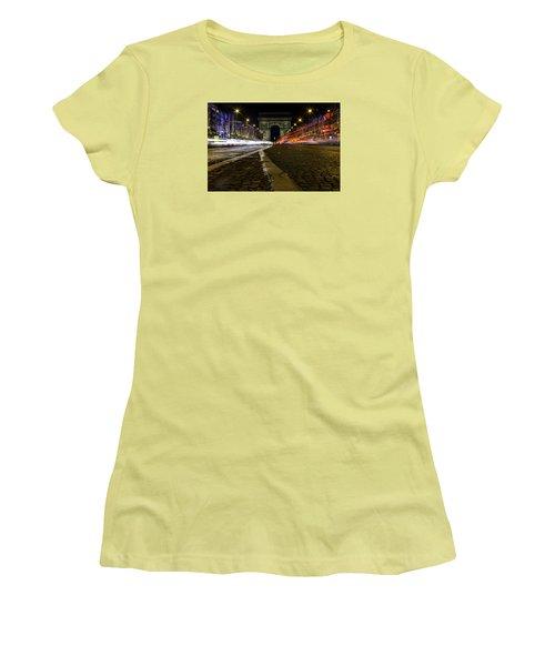 Arc D'triumph With Stripes Women's T-Shirt (Junior Cut) by Rainer Kersten