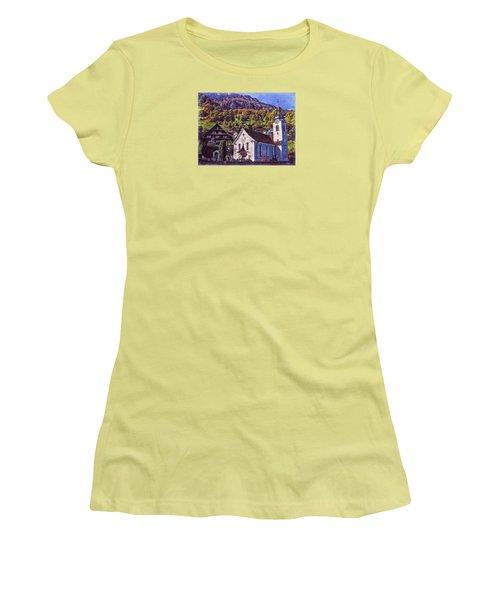 Women's T-Shirt (Junior Cut) featuring the photograph Arcadian Hamlet by Hanny Heim