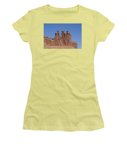 Women's T-Shirt (Junior Cut) featuring the photograph Arches National Park by Cynthia Powell