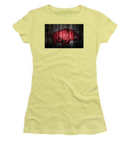 Arkansas Razorbacks 2a Women's T-Shirt (Junior Cut) by Brian Reaves