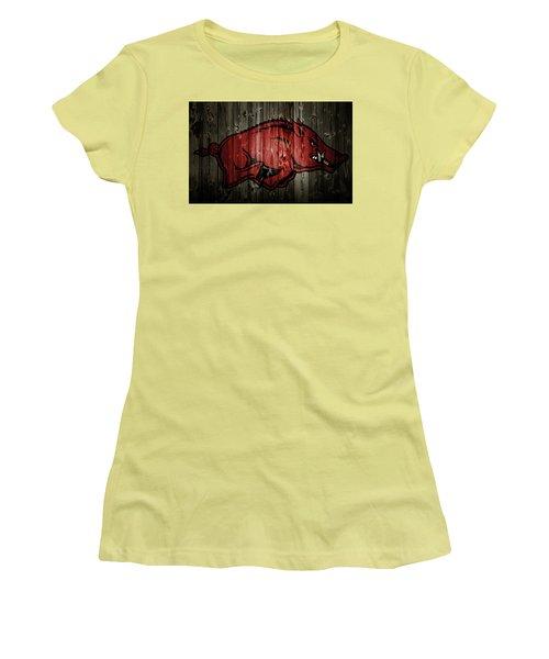 Arkansas Razorbacks 2b Women's T-Shirt (Junior Cut) by Brian Reaves