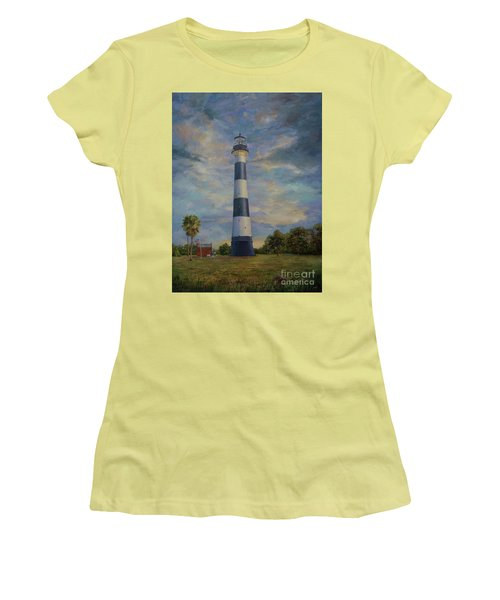Armadillo And Lighthouse Women's T-Shirt (Junior Cut) by AnnaJo Vahle