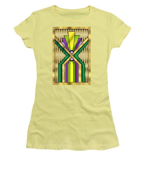 Art Deco 14 B Transparent Women's T-Shirt (Junior Cut) by Chuck Staley