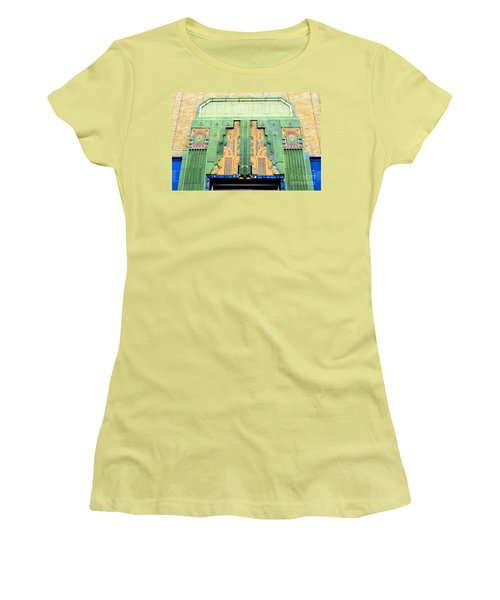 Art Deco Facade At Old Public Market Women's T-Shirt (Athletic Fit)
