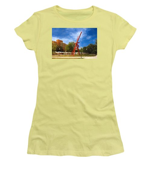Art Fair Painting Women's T-Shirt (Athletic Fit)