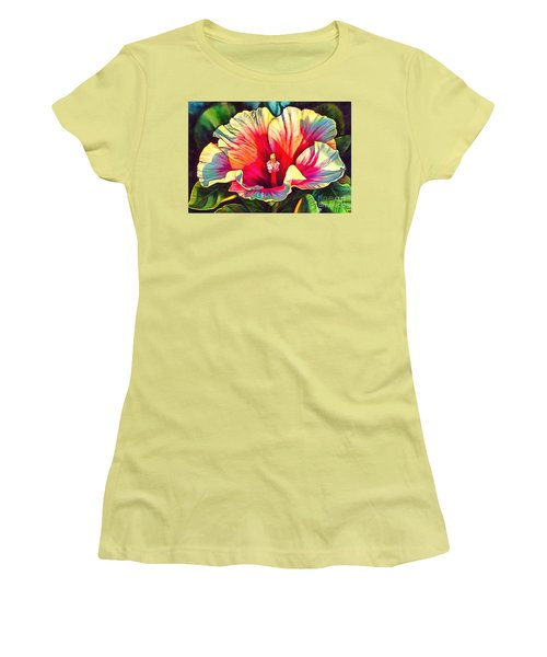 Art Floral Interior Design On Canvas Women's T-Shirt (Athletic Fit)