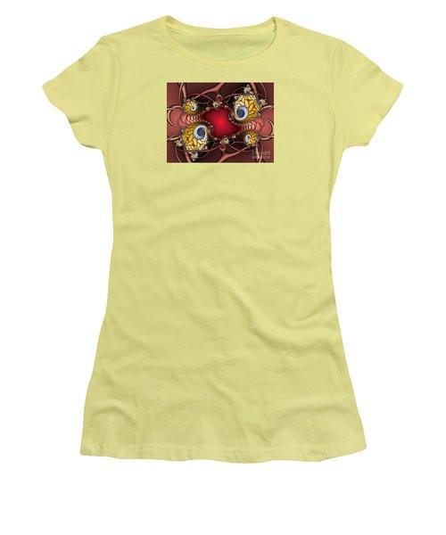 Women's T-Shirt (Junior Cut) featuring the digital art Artdeco by Karin Kuhlmann