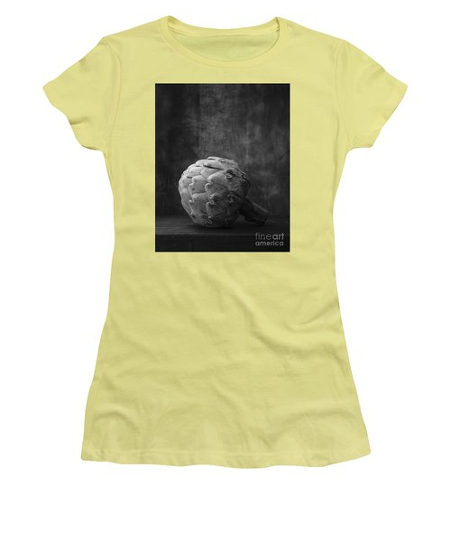 Artichoke Black And White Still Life Women's T-Shirt (Athletic Fit)