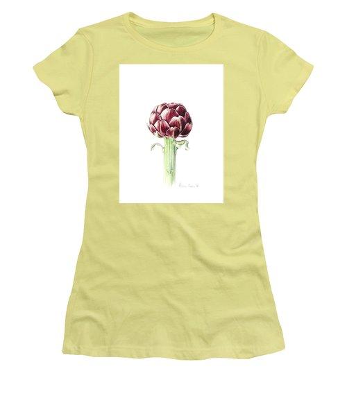 Artichoke From Roman Market Women's T-Shirt (Junior Cut) by Alison Cooper