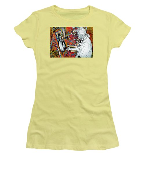 Artist In Abstract Women's T-Shirt (Athletic Fit)