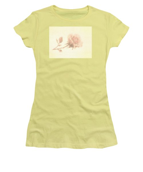 Women's T-Shirt (Junior Cut) featuring the photograph Artistic Etched Rose by Linda Phelps