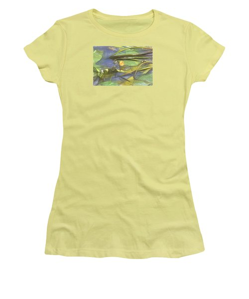 Women's T-Shirt (Junior Cut) featuring the photograph Artistic Yellow Waterlilly 2015 by Leif Sohlman