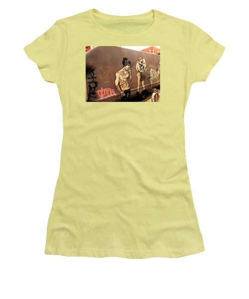 Artsy Love Scenes On New York Truck Women's T-Shirt (Junior Cut) by Funkpix Photo Hunter
