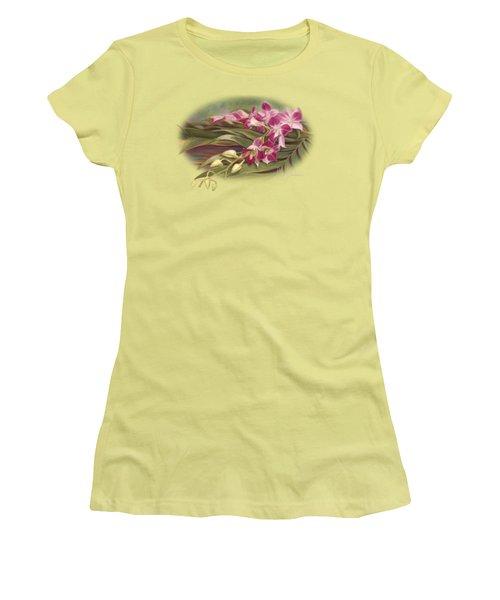 Dendrobium Orchids Women's T-Shirt (Junior Cut)