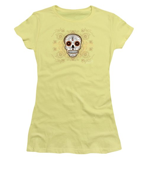 Vintage Sugar Skull Women's T-Shirt (Athletic Fit)