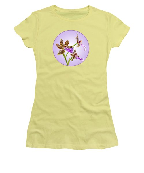 Bold And Beautiful - Zygopetalum Orchid Women's T-Shirt (Junior Cut) by Gill Billington