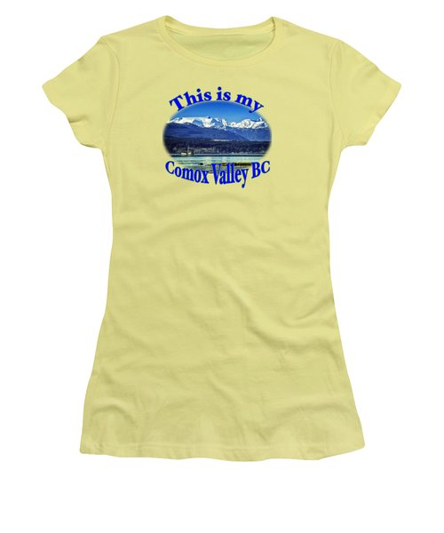 Comox Glacier And Herring Boat Women's T-Shirt (Junior Cut) by Richard Farrington