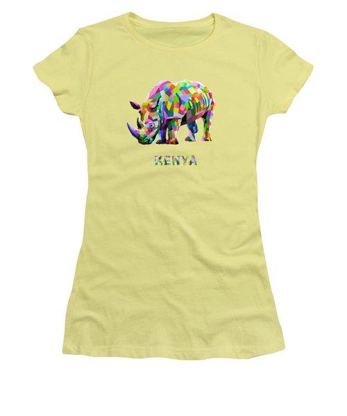 Wild Rainbow Women's T-Shirt (Junior Cut) by Anthony Mwangi