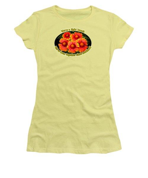 Bright Orange Gaillardia Women's T-Shirt (Junior Cut) by Richard Farrington