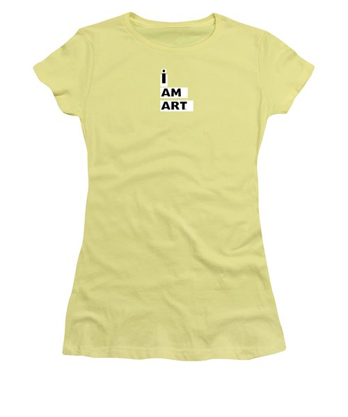 I Am Art Stripes- Design By Linda Woods Women's T-Shirt (Athletic Fit)