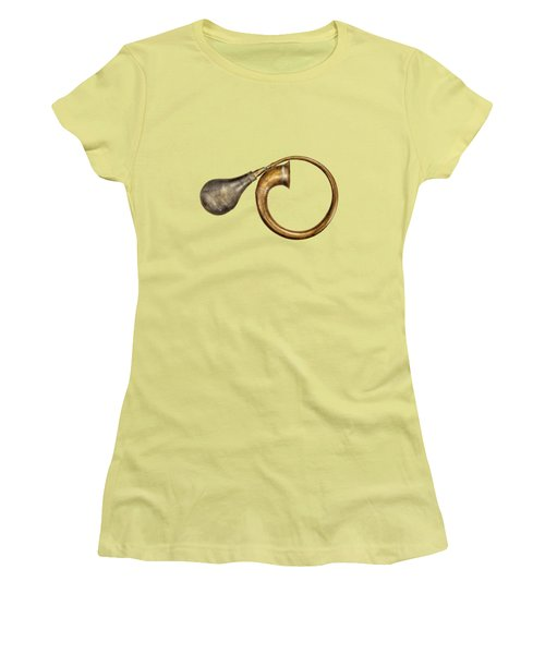 Antique Brass Car Horn Women's T-Shirt (Athletic Fit)