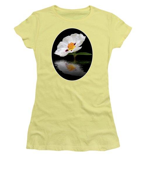 Cistus Reflections Women's T-Shirt (Junior Cut) by Gill Billington