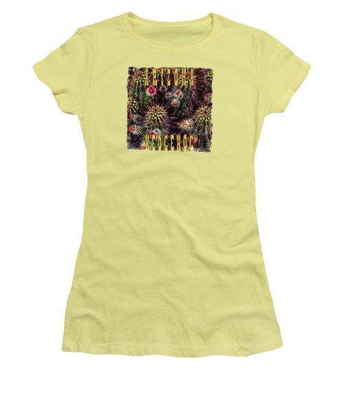 Hedgehog Cactus In Bloom Women's T-Shirt (Athletic Fit)