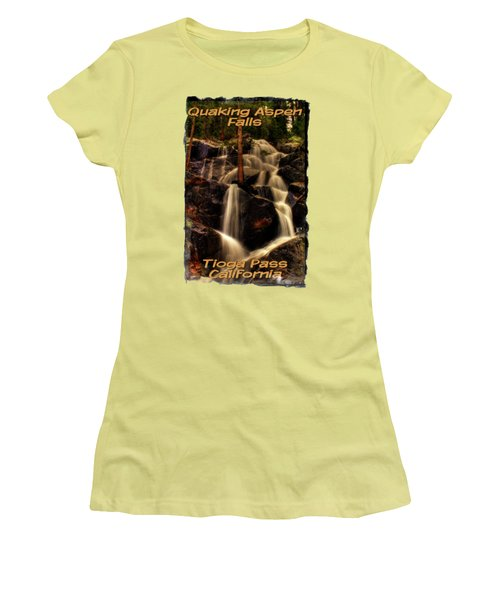 Quaking Aspen Falls Along Tioga Pass  Women's T-Shirt (Athletic Fit)
