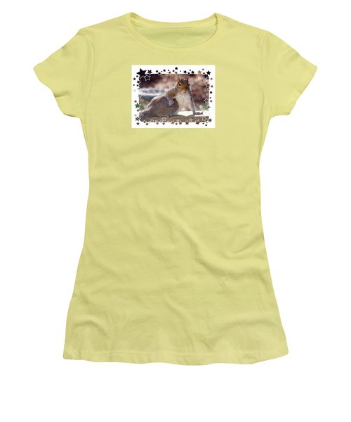 Women's T-Shirt (Junior Cut) featuring the photograph The Show Off by Sue Melvin