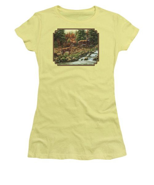 Whitetail Deer - Follow Me Women's T-Shirt (Athletic Fit)