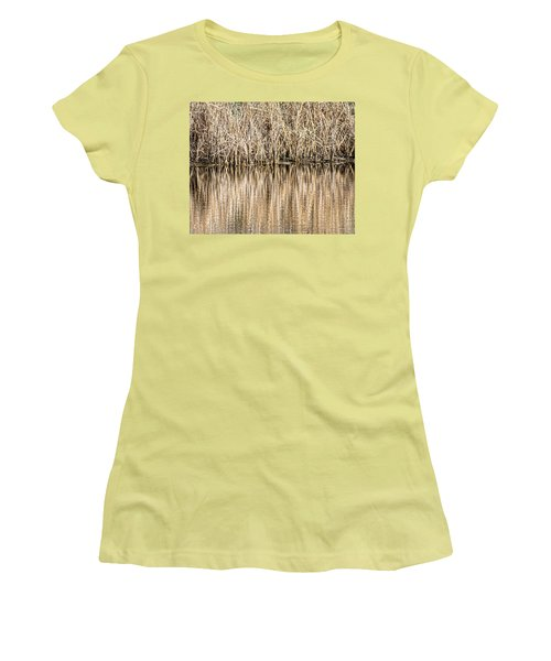 Golden Reed Reflection Women's T-Shirt (Athletic Fit)