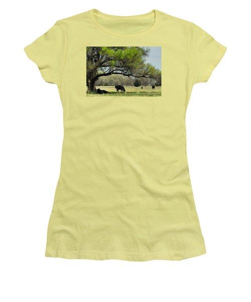 Women's T-Shirt (Junior Cut) featuring the photograph Shady Rest by Bill Kesler