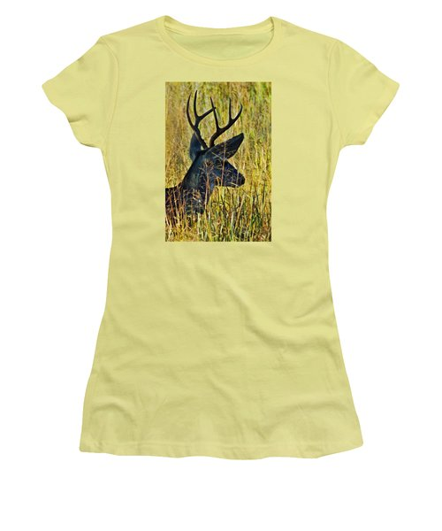 The Buck Rests Here Women's T-Shirt (Athletic Fit)