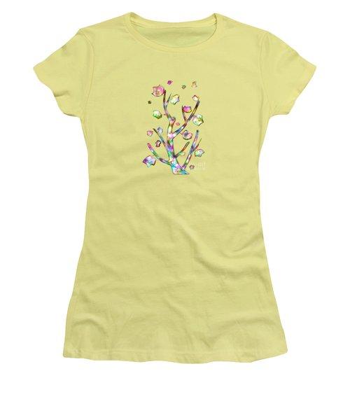 Rainbow Tree Women's T-Shirt (Junior Cut) by Anastasiya Malakhova