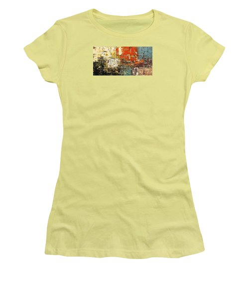 Women's T-Shirt (Junior Cut) featuring the painting Artylicious by Carmen Guedez