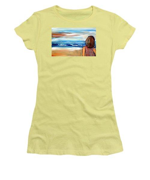 As One Women's T-Shirt (Junior Cut) by Winsome Gunning