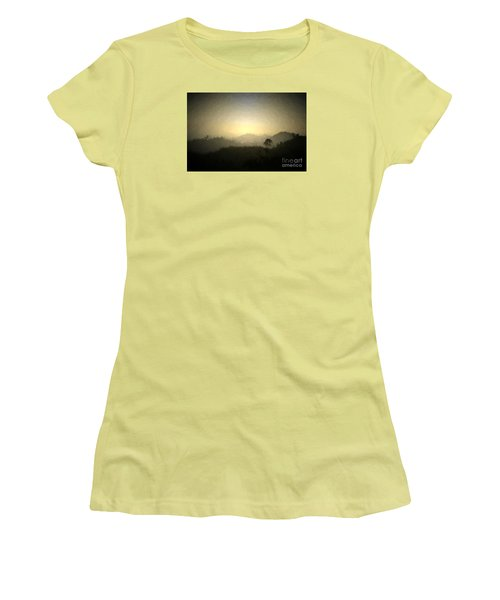 Ascend The Hill Of The Lord - Digital Paint Effect Women's T-Shirt (Junior Cut) by Sharon Soberon