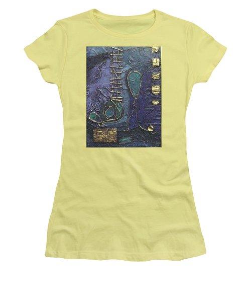 Ascending Blue Women's T-Shirt (Athletic Fit)