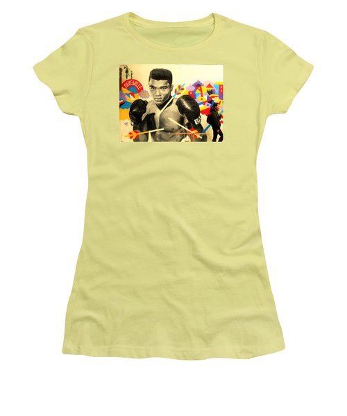 Asian Woman By Mohamed Ali In Brooklyn New York Women's T-Shirt (Junior Cut) by Funkpix Photo Hunter